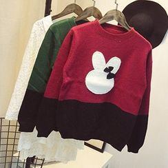 Polaris - Rabbit Appliqué Sweater