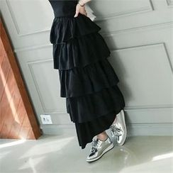 GLAM12 - Layered Long Skirt
