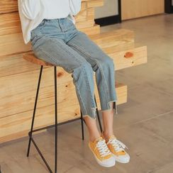 HotBlock - Cropped Straight Fit Jeans