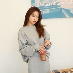 DABAGIRL - Drop-Shoulder Cotton Sweatshirt