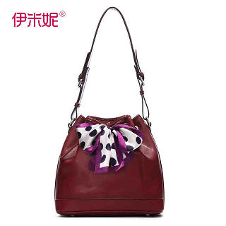 Emini House - Genuine Leather Bucket Bag