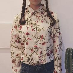 Dute - Floral Print Shirt