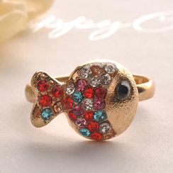 Fit-to-Kill - Colorful Diamond Clown Fish Ring