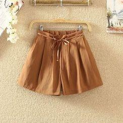 Clementine - Plain Drawstring Shorts