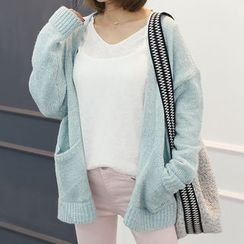 DANI LOVE - Open-Front Colored Cardigan