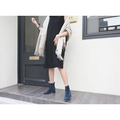 MARSHMALLOW - Sleeveless Wool Blend Knit Dress
