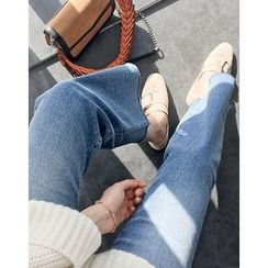 UPTOWNHOLIC - Washed Boot-Cut Jeans