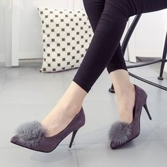 IYATO - Furry-Trim Pumps