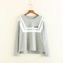 Mushi - Star Studded Long Sleeve T-Shirt