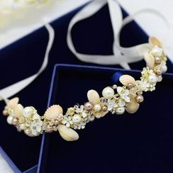 Ashmi - 新娘仿珍珠髮箍