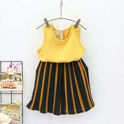 Milmerta - Set: Kids Sleeveless Top + Striped Pants