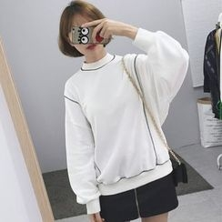 Anlay - Loose-Fit Batwing-Sleeve Turtleneck Pullover