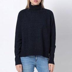 Richcoco - 高領毛衣