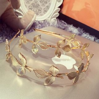 Metallic Leaf Hair Band