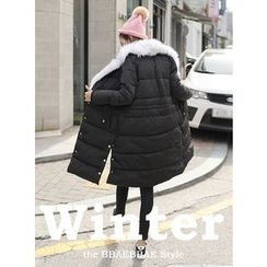 BBAEBBAE - Faux-Fur Trim Padded Thicken Coat