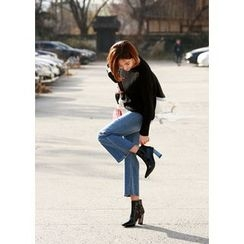 ssongbyssong - Washed Wide-Leg Jeans