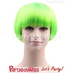 Party Wigs - PartyBobWigs - Party Short Bob Wigs - Green