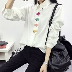 Hanaya - Fish Patch Long-Sleeve Shirt