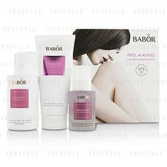 BABOR - SPA Relaxing Lavender Mint Coffret: Shower Oil and Bath 200ml + Peeling Cream 200ml + Sleep Well Spray 50ml