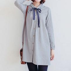 Forest Girl - Tie Neck Shirtdress