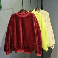 11.STREET - Velvet Drop-Shoulder Sweatshirt