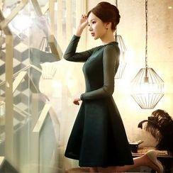 Dabuwawa - Tulle Long-Sleeve Dress