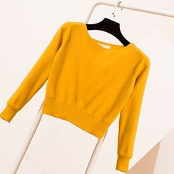 Coralie - Cropped Knit Pullover