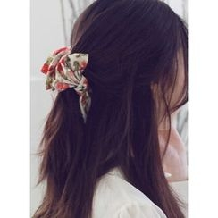 kitsch island - Floral Print Bow Hair Clamp