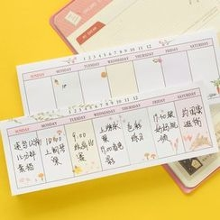 Show Home - Schedule Memo Pad