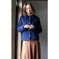Someday, if - Peter Pan Collar Wool Blend Jacket