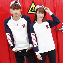 Igsoo - Couple Matching Print Sweatshirt
