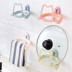Home Simply - 可拆卸吸盤鍋蓋架/毛巾架