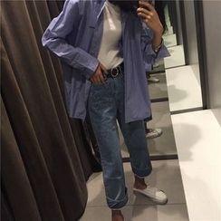 MISS YOYO - 口袋宽腿牛仔裤