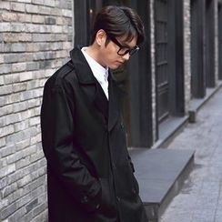 SCOU - Double-Breasted Trench Coat with Sash