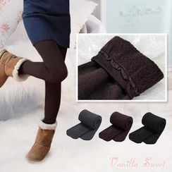 Vanilla Sweet - Fleece-Lined Leggings / Tights