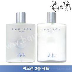 The Flower Men - Emotion Set: Skin 160ml + Emulsion 160ml + Skin Shower Cleansing For Men 220g + Moist Essence 40ml