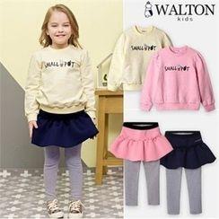 WALTON kids - Kids Lettering Melange Pullover