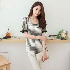 Tokyo Fashion - Short-Sleeve Striped Top