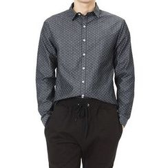 Seoul Homme - Long-Sleeve Dot-Pattern Shirt