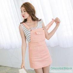 OrangeBear - Pocket-Front Suspender Skirt