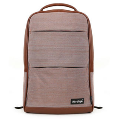 Mr.ace Homme - Faux Leather-Trim Canvas Backpack