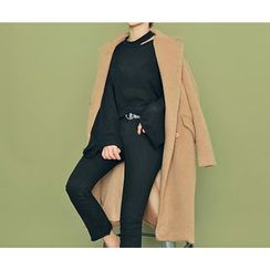 HOTPING - Hidden-Button Long Coat