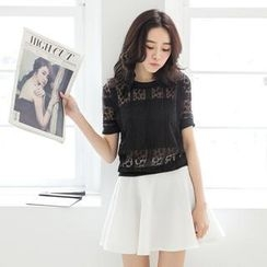 Tokyo Fashion - Dotted Lace Top with Bandeau Top