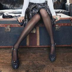 Clair Fashion - 露肌透光黑色丝袜