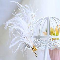 constello - Feather Bridal Hair Clip
