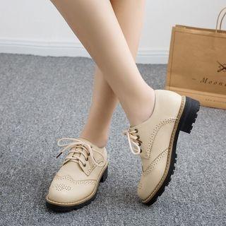 Megan - Faux-Leather Oxford Shoes