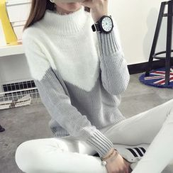 FR - Intarsia Mock-Turtleneck Sweater