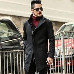 Mannmix - 立領拉鍊大衣
