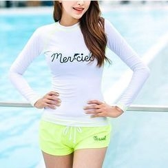 Sirene - Set: Lettering Swim Top + Shorts