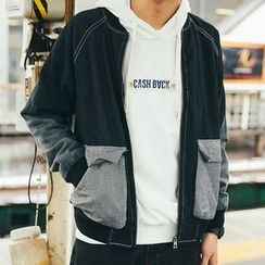 Streetstar - Gradient Denim Bomber Jacket
